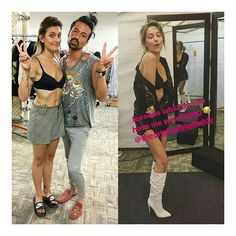 More pictures of Paris Jackson in wardrobe on the set of the Star TV Show.