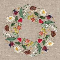 Wonderful Ribbon Embroidery Flowers by Hand Ideas. Enchanting Ribbon Embroidery Flowers by Hand Ideas. Brazilian Embroidery Stitches, French Knot Embroidery, Learn Embroidery, Japanese Embroidery, Hand Embroidery Stitches, Silk Ribbon Embroidery, Crewel Embroidery, Vintage Embroidery, Embroidery Techniques