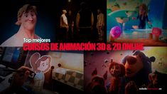 Top 8 Mejores Cursos de Animación 3D 2D ❤️ ONLINE | Desde cero a nivel Dios Animated Gif, 2d, Animation Films, Wrestling, Movies, Movie Posters, Pictures, Painting, Characters