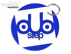 JCM Awesome Dubstep Magnetic Keychain, Blue