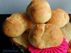 Moje Małe Czarowanie: Łatwe bułki pszenne na śniadanie Hamburger, Bread, Hamburgers, Breads, Burgers, Bakeries