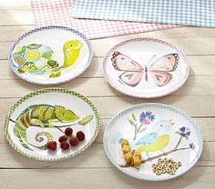 Garden Friends Plates #PotteryBarnKids