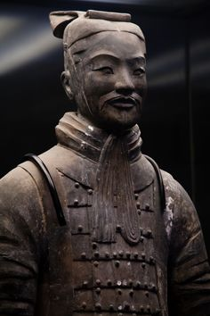 Funerary Art | Terracotta Warrior on display. Each statue was constructed to be ...