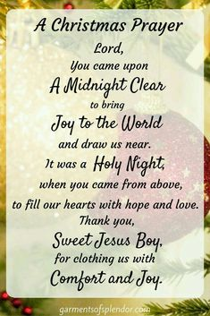 Best Short Christmas Poems and Prayers For Family, Kids, Friends & Lord Jesus Christmas Verses, Christmas Prayer, Christmas Program, Christmas Blessings, Christmas Traditions, Christmas Holidays, Christmas Decorations, Merry Christmas Quotes Christian, Spiritual Christmas Quotes