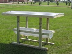 USA Plastic Barrel Feeder  #goatvet says you could make your own but ensure goats can't jump in.