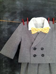Ring Bearer Suit Short Pants Knickers Long by BabySuzannaJohanna