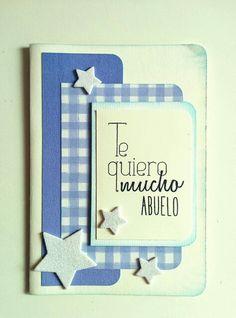 """Tarjeta abuelo para reto """"tarjeta CAS"""" de la marca www.laparejacreativa.com/blog"""