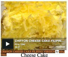 Chiffon Cheesecake Filipino Style
