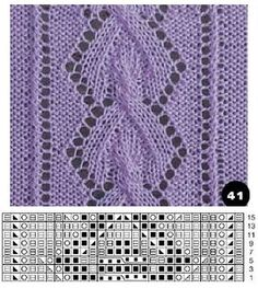 Lace knitting Love Knitting, Lace Knitting Patterns, Knitting Charts, Knitting Stitches, Stitch Patterns, Crochet Baby, Free Crochet, Knit Crochet, How To Purl Knit