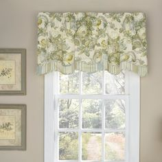 """Waverly Spring Bling 52"""" Curtain Valance Color: Platinum"""