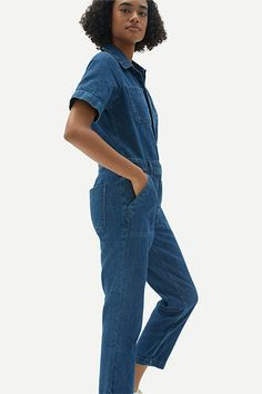 The Summer Trend to Buy Based on Your Zodiac Sign | The Everygirl Work Wife, Butterfly Top, Denim Jumpsuit, Summer Essentials, Mesh Dress, Summer Trends, Flutter Sleeve, High Waisted Shorts, Zodiac Signs