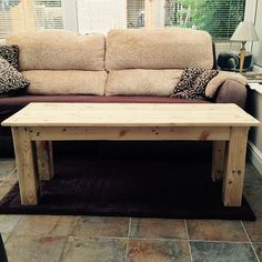 Coffee table made from recycled pallets. #upcycling #pallet #palletfurniture