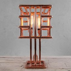 KAGO - by Zapalgo - a place for unique lighting. Come in and stay with us, we now ship those beauties worldwide! Copper Table Lamp, Copper Lamps, Copper Decor, Pipe Lighting, Copper Lighting, Unique Lighting, Cheap Table Lamps, Copper Tubing, Copper Pipes