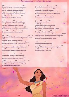Ukulele Chords songs |Tablature pour ukulélé - L'air du vent - Pocahontas de Disney