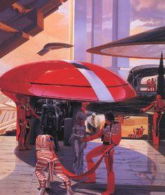 Awesome retro-futuristic design by Syd Mead