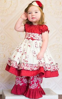 Lovely hearts little girls ruffle dress  Valentine&39s day outfit ...