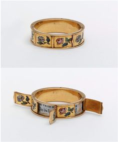 ring with hidden love messages. france 1830-60.