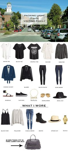 7 day transitional weather packing list + outfit options here: http://livelovesara.com/2015/09/packing-light-outfit-options-for-transitional-weather/