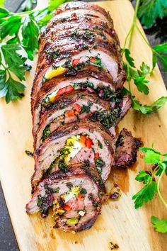 This Matambre is an Argentinian Stuffed Flank Steak with hard boiled eggs, bell peppers, a mixture of cilantro, garlic and olive oil. The matambre is then grilled to perfection and cut into thin slices before enjoying. #matambre #flanksteak Barbecue Recipes, Meat Recipes, Dinner Recipes, Cooking Recipes, Healthy Recipes, Water Recipes, Simple Recipes, Grilling Recipes, Delicious Recipes