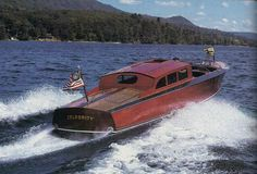 """this international masterpiece was exclusively designed and handbuilt by local craftsmen here in upstate New York and was featured in a 1995 February's issue of """"YACHTING"""", a Times Mirror Magazine ! Boat Companies, Runabout Boat, Yacht Builders, Wood Boats, Upstate New York, Speed Boats, Palermo, Craftsman, Building"""