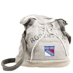 NHL New York Rangers Hoodie Duffel (Grey) by Pro-FAN-ity by Littlearth. Save 34 Off!. $22.50
