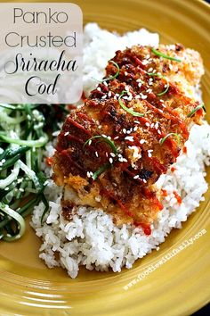 PANKO CRUSTED SRIRACHA COD http://www.foodiewithfamily.com/2014/03/14/panko-crusted-sriracha-cod-baked/  ⇨ Follow City Girl at link https://www.pinterest.com/citygirlpideas/ for great pins and recipes!  ☕