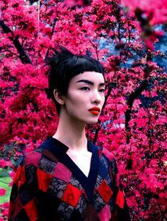 Vogue US Aug 2014   Liu Wen & Fei Fei Sun by Mikael Jansson