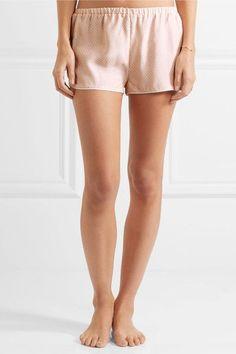 Three J NYC - Sienna Printed Silk-satin Pajama Set - Blush - x large