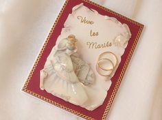 Carte de mariage : Voici une jolie manière d'envoyer vos félicitations à l'occasion d'un mariage : réalisez une carte en 3D.