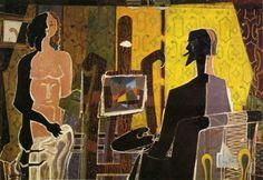 O artista e seu modelo, 1939 George Braque (França, 1882-1963) óleo sobre tela, 130 x 175 cm Coleção Particular