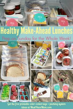 Quick & easy tips to pack a healthy lunch everyday! Make ahead lunches and label… Quick & easy tips to pack a healthy lunch everyday! Make ahead lunches and label system so kids can pack their own healthy lunch! Easy Lunches For Kids, Back To School Lunch Ideas, Healthy School Lunches, Toddler Lunches, School Lunch Box, Make Ahead Lunches, Prepped Lunches, Kids Meals, Packing School Lunches