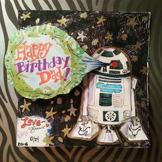 The special day is actually tomorrow but this cool card needed to be posted today. #birthday #birthdaycard
