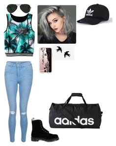 """""""Untitled #89"""" by madriz-soamdi on Polyvore featuring New Look, Dr. Martens, adidas, Ray-Ban and Casetify"""