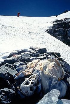 I am strangely fascinated by the frozen corpses that litter Mt. Everest.