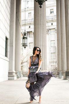 Spring Dress :: Scarf-print silk dress