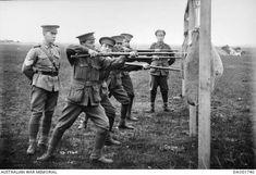 Bayonet practice at Broadmeadows Camp - 12 June, 1916. •Australian War Memorial•