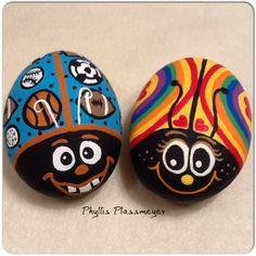 Ladybug rocks by Phyllis Plassmeyer