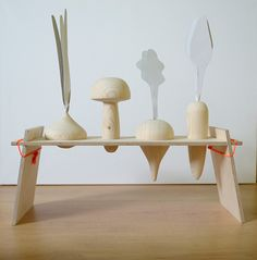 Wooden garden toy by Emilija Rimkute.