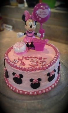 Minnie Mouse Cake Cakes Ive made Pinterest Mouse cake and Cake