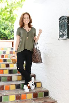 casual weekend uniform with adidas superstars
