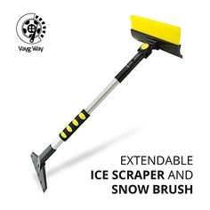 Special Wiper Protector Raniaco Ice Scraper for Car Windshield 3-in-I Exchangeable Blade Car Snow Remover