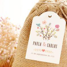 Etiquetas detalles boda: Flores Silvestres
