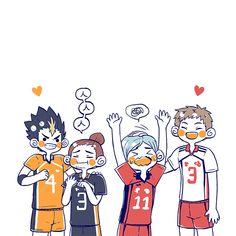 Haikyuu Manga, Haikyuu Fanart, Haikyuu Characters, Anime Characters, Volleyball Anime, Haikyuu Wallpaper, Haikyuu Ships, Kagehina, Karasuno