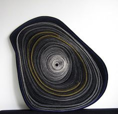 Irregular shape and infinity sewing round and round on a black felt Black Felt, Textile Art, Watercolor Art, The Creator, Infinity, Textiles, Shapes, Quilts, Sewing