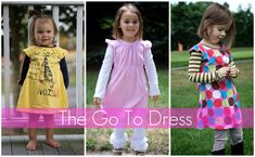 Free dress pattern. Sizes 12 months to 5 years.