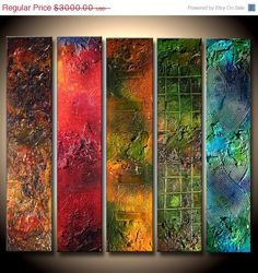 Original Textured Abstract painting by newwaveartgallery on Etsy, $1800.00