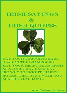 It is important to study up on our Irish sayings, so that we can toast our friends in a proper Irish manner on St. Patrick's Day.