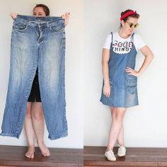 Transforme suas roupas velhas em roupas novas e diferentes (com imagens) Diy Clothing, Sewing Clothes, Boutique Clothing, Women's Summer Fashion, Diy Fashion, Dress Design Sketches, Denim Ideas, Denim Crafts, Denim And Lace