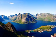 Lofoten Islands - View from The Reinebringen Trail