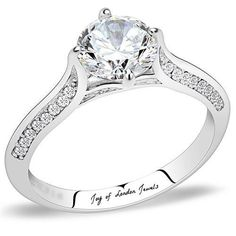 1.2CT Round Cut Solitaire Russian Lab Diamond Engagement Ring